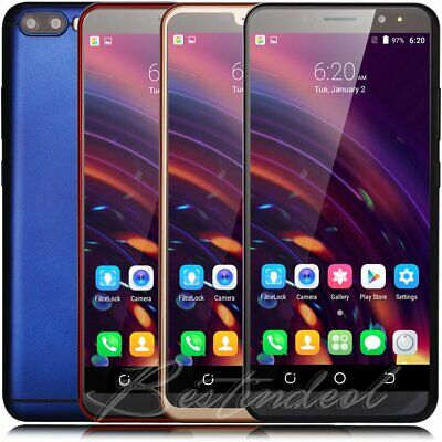 """Cheap Unlocked 6"""" Android 7.0 Mobile Smart Phone Quad Core Dual SIM GPS 3G Touch"""