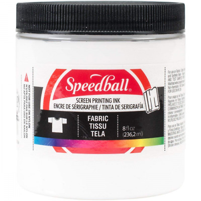 Speedball Art Products 465283 Fabric Screen Printing Ink, 8-Ounce, White