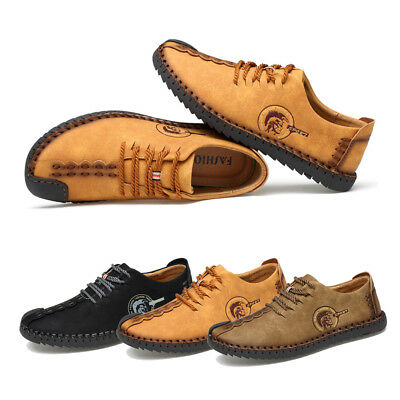 d5e2aeee36b0 Mens Retro Classic Lace-up Oxford Shoe Handmade Leather Flat Casual Dress  Shoes