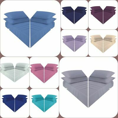 Plain Dyed Poly Cotton Soft Flat Bed Sheet Single Double King Super King