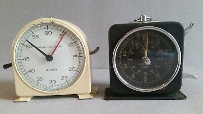 Pair of Smiths English Clock System (Minutes & Seconds Process Timer) 30s
