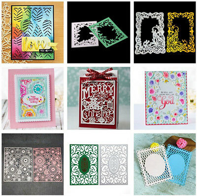 Rectangle Frame Metal Cutting Dies Stencil DIY Scrapbooking Card Embossing Craft