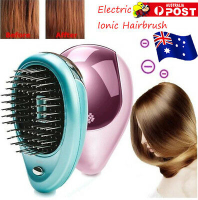 Portable Electric Ionic Hairbrush Takeout Mini Ion Hair Brush Comb Massage OD