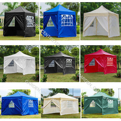 2x2m/2.5x2.5m/3x3m/4.5x3 Heavy Duty Waterproof Pop Up Garden Gazebo Marquee Tent