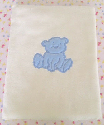 Fuzzy Bear Baby Blanket - Blue Bear. Brand New! Excellent Quality. End of Line.