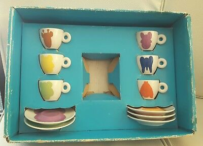 Illy Jeff Koons 2001 Set 6 Tazzine Caffe' Art Collection Con Box Nuove