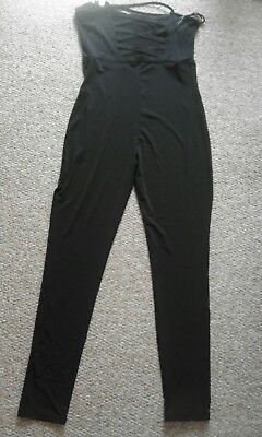 Ladies h&m black stretched jumpsuit. size 16. New with tags