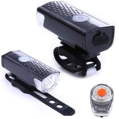 USB Rechargeable Bicycle LED Front HeadLight Bike Cycle Rear Tail Chameleon Lamp