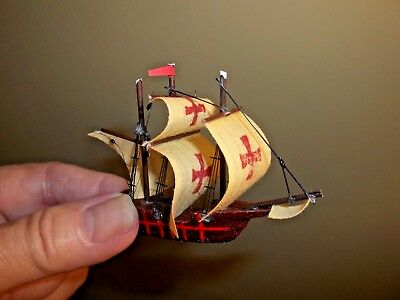 Model Ship For Your Mantle Or Hearth- - Doll House Miniature
