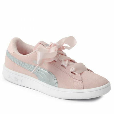 Scarpe Puma Smash v2 Ribbon AC PS 366004 02 Sneakers Kids Bambina Pink moda  run 71a1e315a14