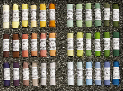 Unison Artist's Hand Made Soft Pastel Selection Sets of 36 Colours
