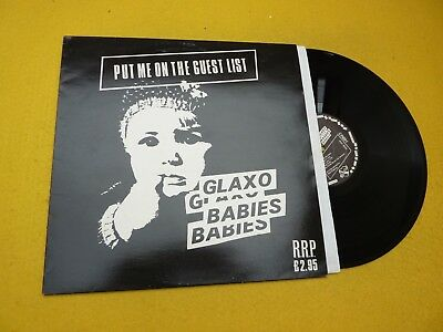 Glaxo Babies ‎– Put Me On The Guest List (EX/EX)  1980 LP Ç