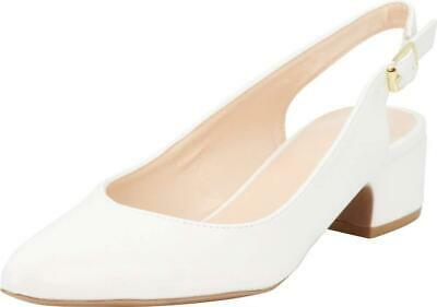 56990a09527 Cambridge Select Women s Closed Pointed Toe Buckled Slingback Chunky Block  Mi.