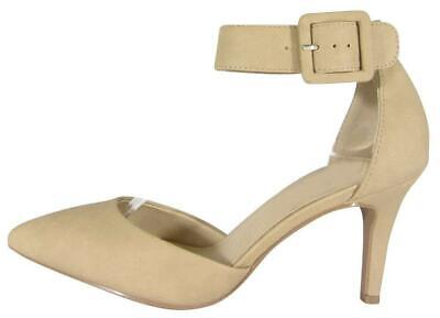 7a710025dfd24 CAMBRIDGE SELECT WOMEN'S Closed Pointed Toe Buckled Ankle Strap Padded  Comfor...