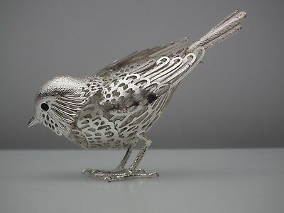 CHRISTOFLE French Silver Plate Sparrow bird Lumiers D'Argent Lace Collection