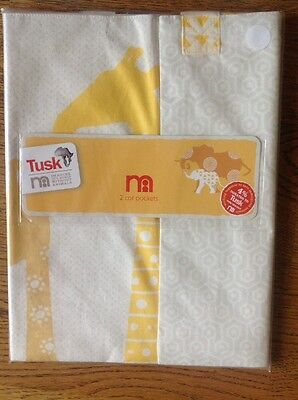 Pack Of 2 Cot Pockets From The Tusk Range At Mothercare...Bnip