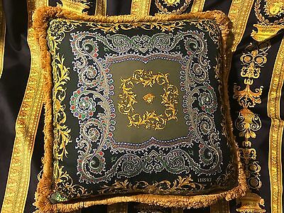 Versace Pillow Baroque Medusa Cushion Vintage Italy Sale