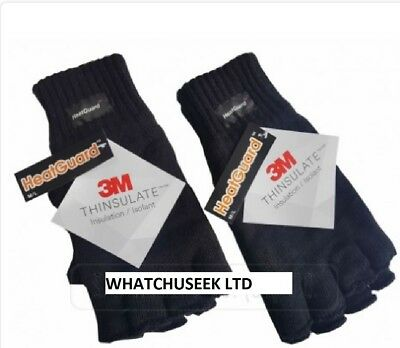 Thinsulate™ 3M™ Knitted Warm Finger Less Gloves Winter Woolly Acrylic Mitts