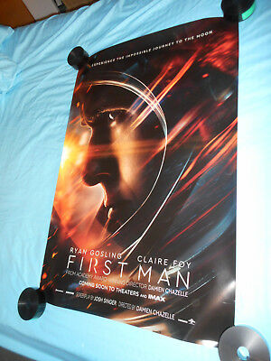 "Ryan Gosling FIRST MAN orig movie poster one sheet DS 27""x40"" Neil Armstrong New"