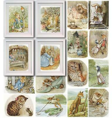 Beatrix Potter Peter Rabbit Picture Photo Decor Print wall art Nursery Gift