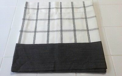 "Modern Contemporary Style Window Valance Ivory Black Gray 60x15.5""  NWOT"