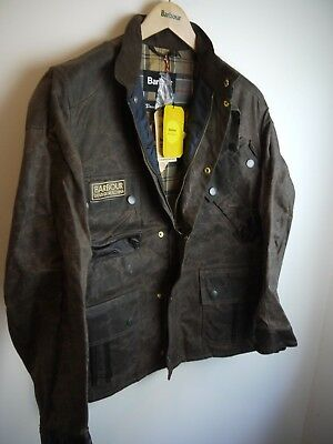 Barbour Deus Ex Machina Hurtsville Wax Jacket, New With Tags, Hickory, Small