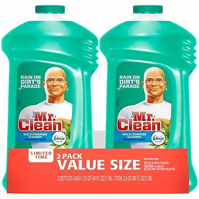 Mr Clean Liquid All-Purpose Cleaner with Febreze Meadows and Rain 40 Oz Twin Pac