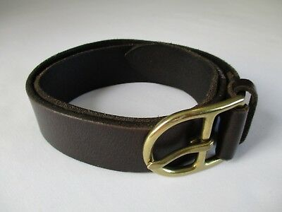 """Polo Ralph Lauren Genuine Leather Boy's 24"""" Belt With Solid Brass Buckle"""