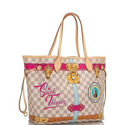 13ff90d39d8b LOUIS VUITTON ST Saint TROPEZ Neverfull MM Summer Trunks Damier Azur TOTE  Bag
