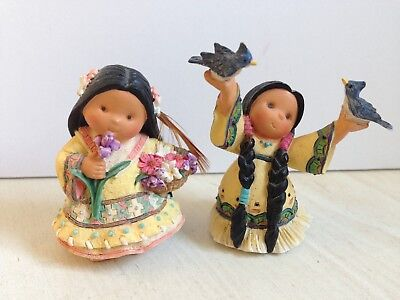 Vintage 1998/1999 Enesco Friends of the Feather Lot of 2 Mini Figurines Birds