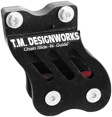 T.M. Designworks Rear Chain Guide and Dual Powerlip Roller RCG-002-BK
