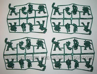 Tehnolog. 28mm 16 figures Cyber-punk brute Orcs army plastic toy soldiers. WH40K