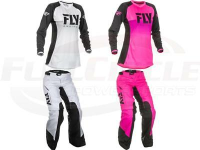 Fly Racing Kinetic Women's Girl's Jersey & Pants MX/ATV Riding Gear Overboot '19