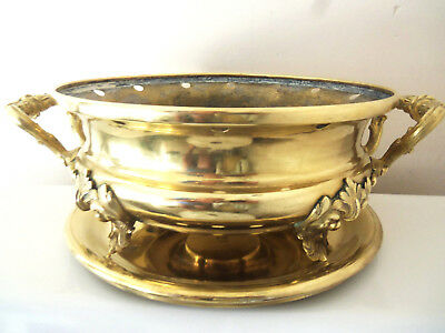 Rare Antique CHRISTOFLE 2 Piece Footed  Gilded Brazier 19th Century