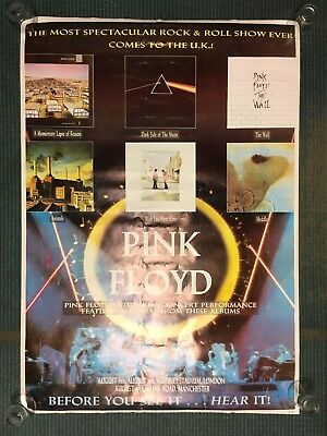Pink Floyd 1988 Momentary Lapse of Reason Concert Poster Wembley Stadium
