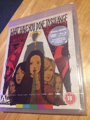 WHAT HAVE YOU DONE TO SOLANGE?  Blu Ray & DVD Arrow Video Region A & B
