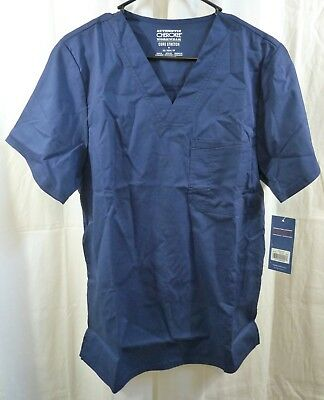 Core Stretch by Cherokee Workwear Women's V-Neck Solid Scrub Top Size XS