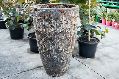 Outdoor Garden Patio Entrance Planter Pot Tall Urn Relic Cone Magma Red