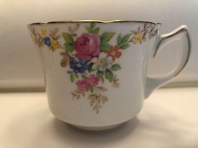 FOLEY CHINA English Bone China EB & CO Tea Cup Floral Gold Trim Made in England