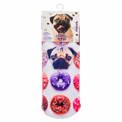 Claire's Doug The Pug® Sweet Treats Patterned Socks - Various Colours Pink