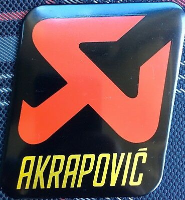 2 x AKRAPOVIC 90mm/70mm Exhaust Heat Proof Resistant Sticker Decal Motorcycle