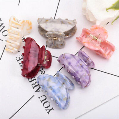 Women Lady Acrylic Simple Hair Claw Clips Barrette Crab Clamp Hair Accessories