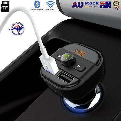Bluetooth Car Kit Wireless FM Transmitter Dual USB Charger Audio MP3 Player OP