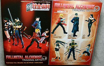 NEW Fullmetal Alchemist Trading Arts Vol.2 COMPLETE Set of 6+CHASE Fig Color Ver