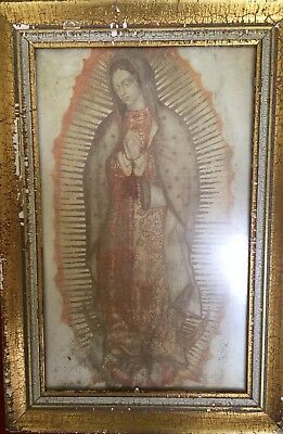 Our Lady Of Guadalupe Vintage Gold Framed Picture 2999 Picclick