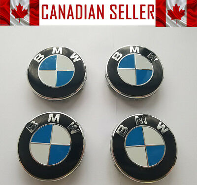 Brand New 4 Pcs BMW Wheel Center Caps 68mm FITS ALL MODELS