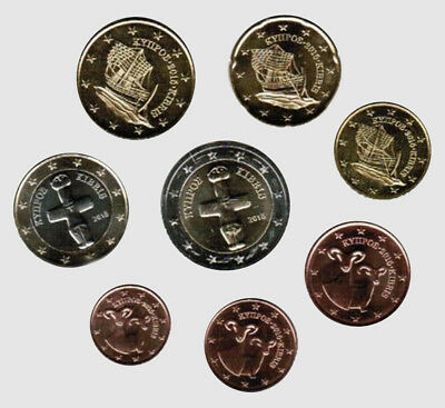 Cyprus 2015 - Set of 8 Euro Coins (UNC)