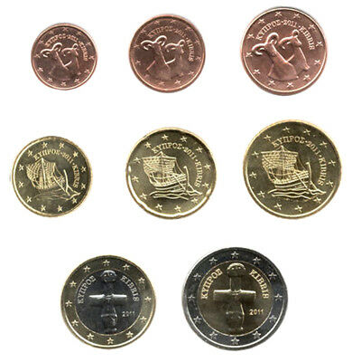 Cyprus 2011 - Set of 8 Euro Coins (UNC)