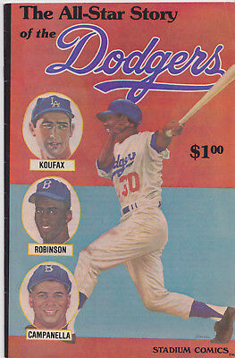 The All-Star Story of the Dodgers Comic Book Los Angeles Baseball 1979 Stadium