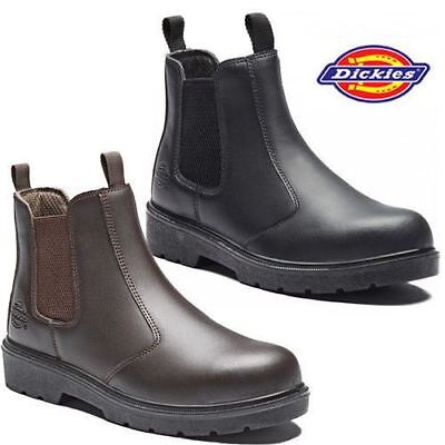 Mens Dickies Dealer Lightweight Chelsea Steel Toe Cap Safety Boots Work